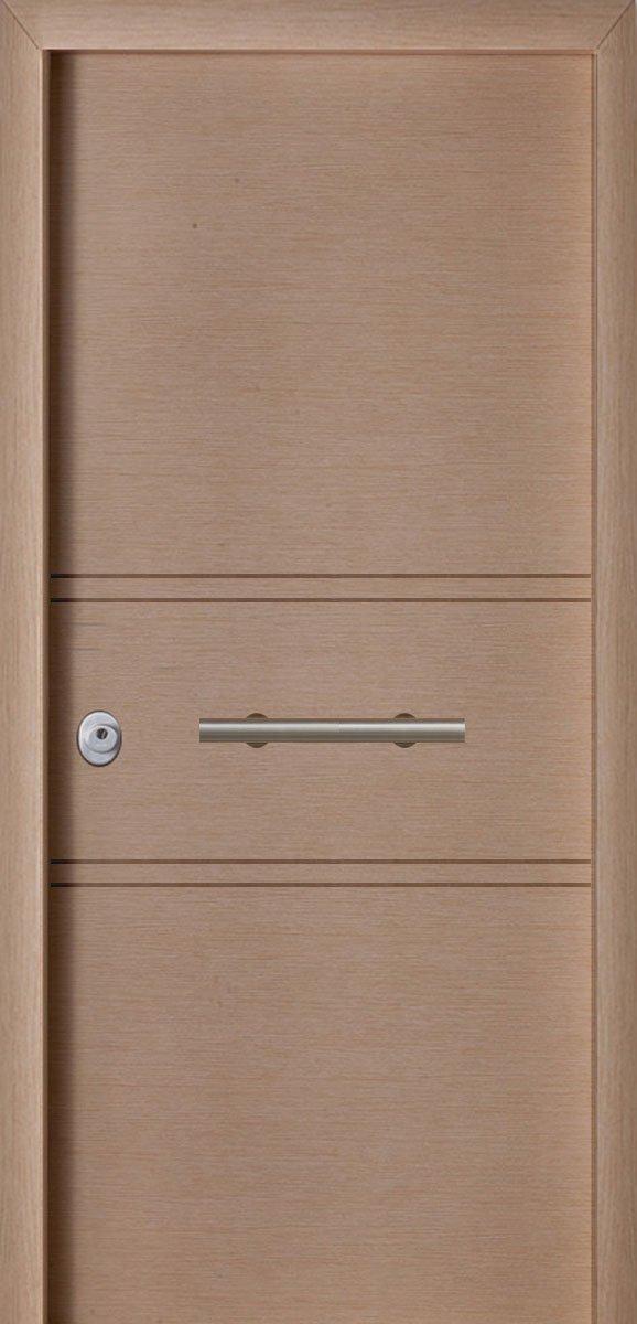 Πόρτες Ασφαλείας - Laminate - Δρύς σκαφτό - 2 διπλές οριζόντιες