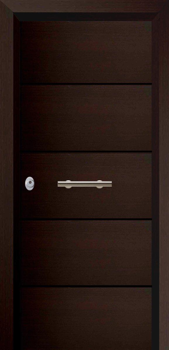 Πόρτες Ασφαλείας - Laminate - Wenge σκαφτό - 4 οριζόντιες