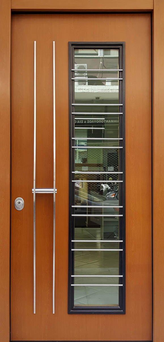 πορτες ασφαλειας με τζαμι ειδικης κατασκευης