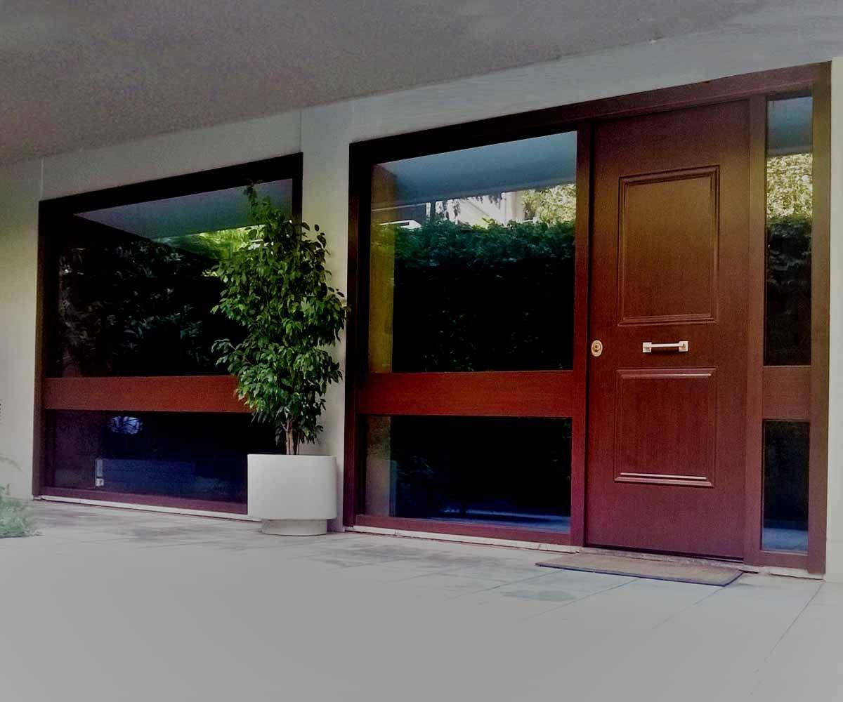 Θωρακισμένη πόρτα ασφαλείας με αλεξίσφαιρα τζάμια | siamo