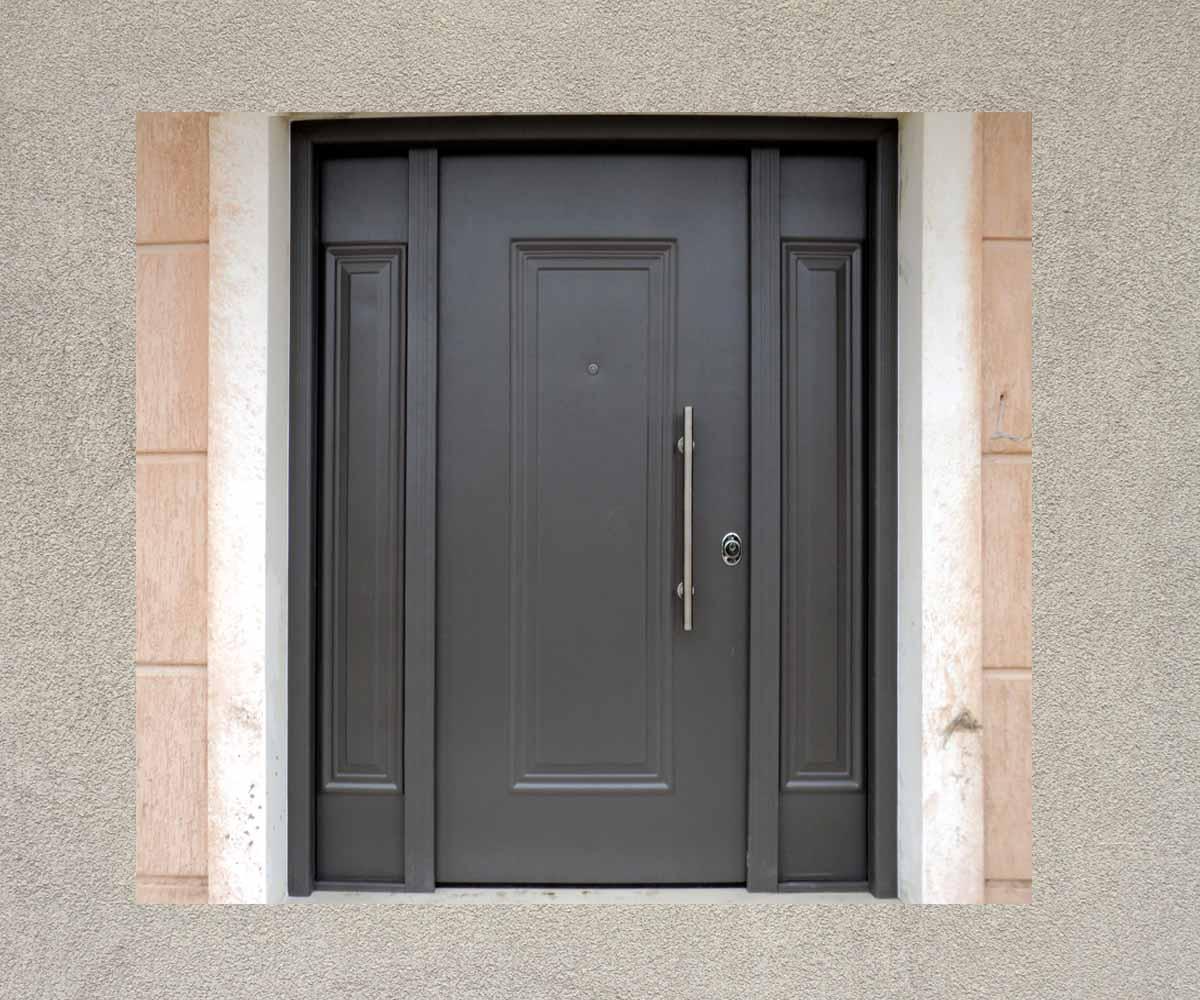 πορτα ασφαλείας με δυο τυφλά σταθερα κεντρική εισοδος | siamo.gr