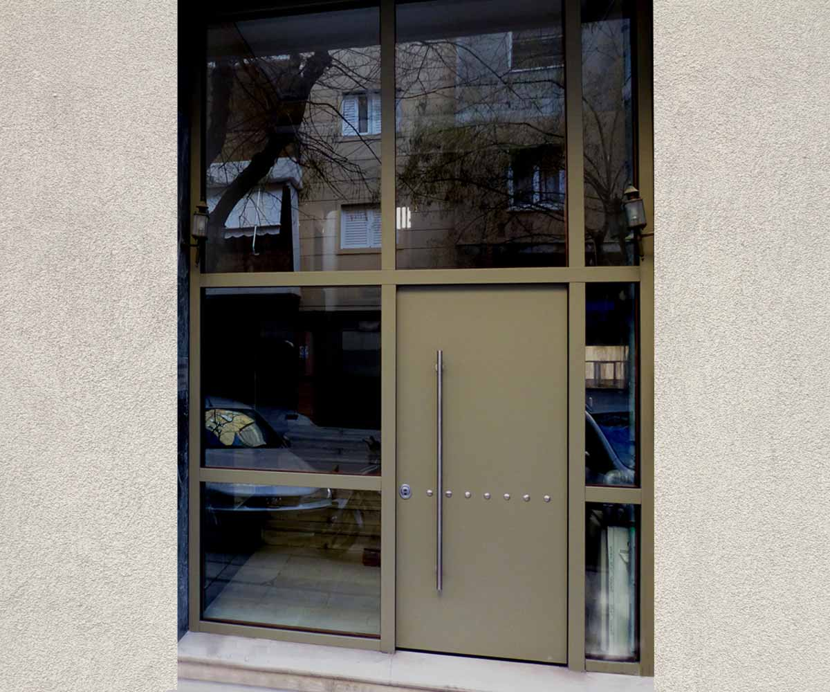 πορτα πολοικατοικιας θωρακισμένη απο τη siamo