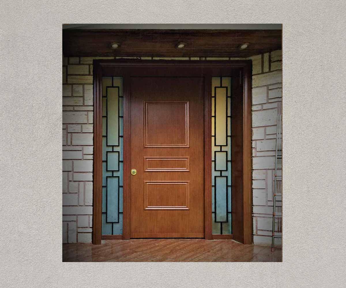 πόρτα ασφαλέιας με μασίφ κάγκελα