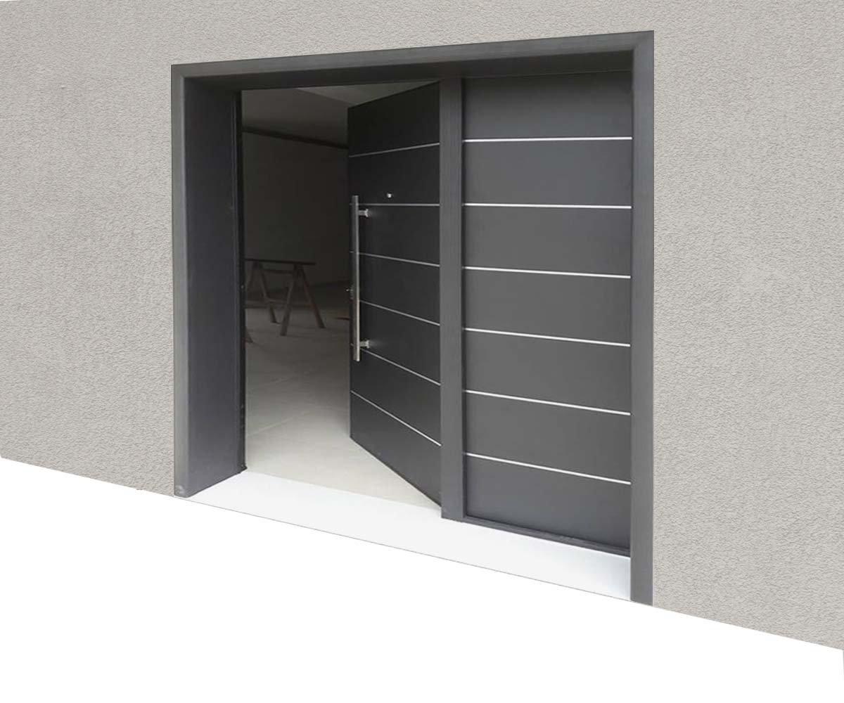 Πόρτα κεντρικής εισόδου με άξονα | siamo
