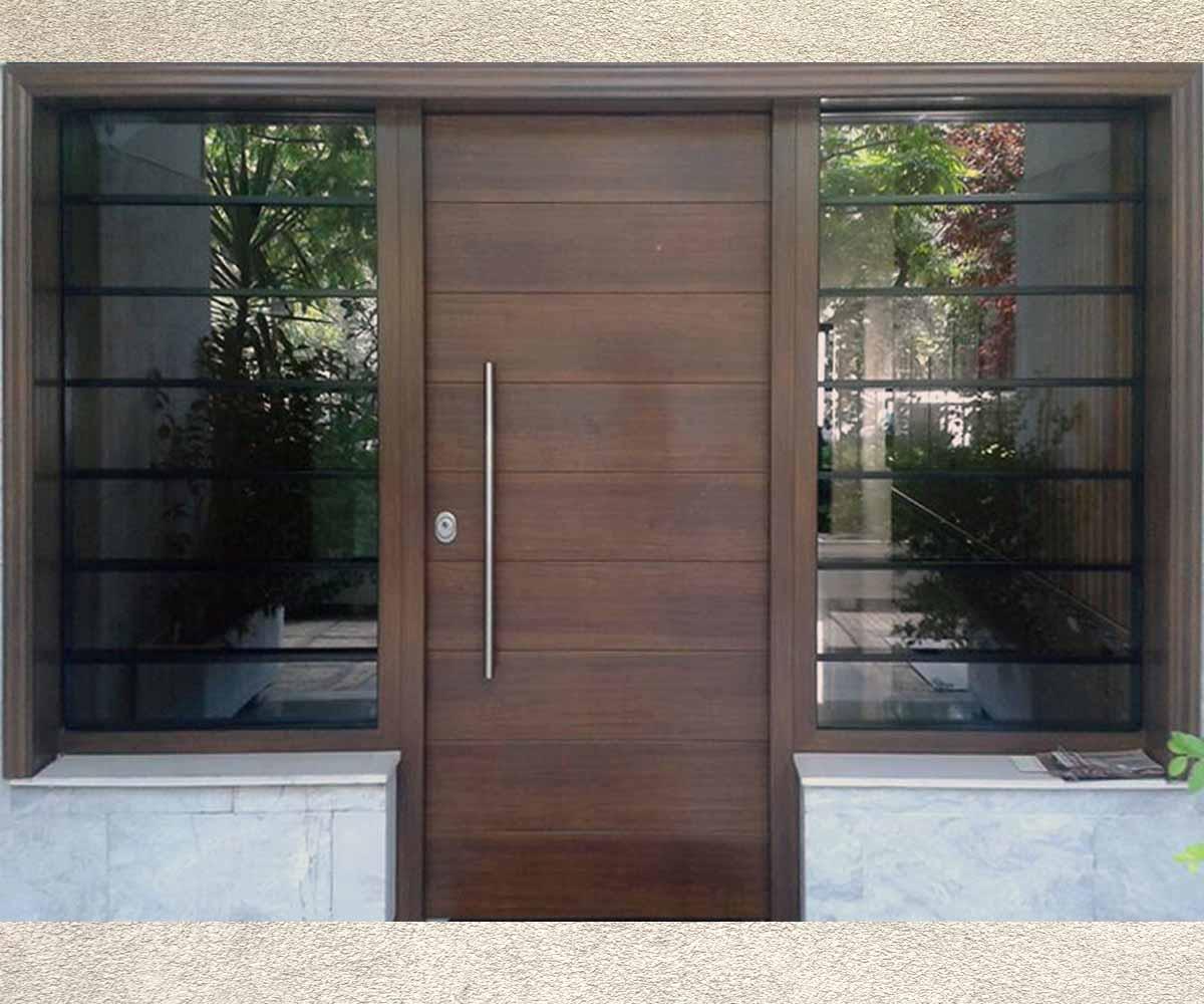 σταθερό με κάγκελα και τζάμια | πόρτες ασφαλείας ελληνικης κατασκευσης